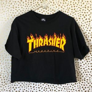 Thrasher flame crop top